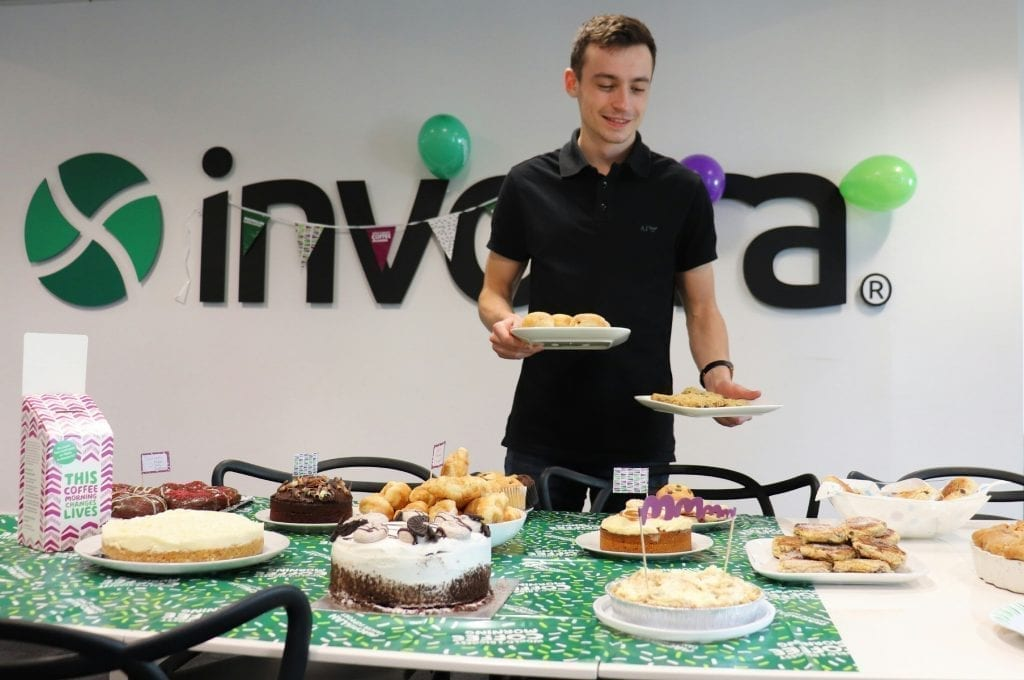 Andrew doyle at macmillan coffee morning