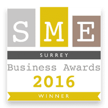 'Regional Apprentice of the Year' at the SME Surrey Business Awards 2016 logo