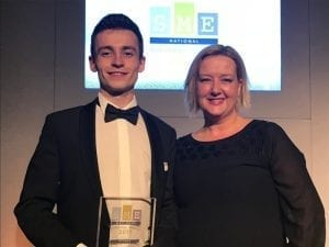 Allie and Andrew at apprenticeship award