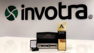 Invotra logo with apprenticeship award
