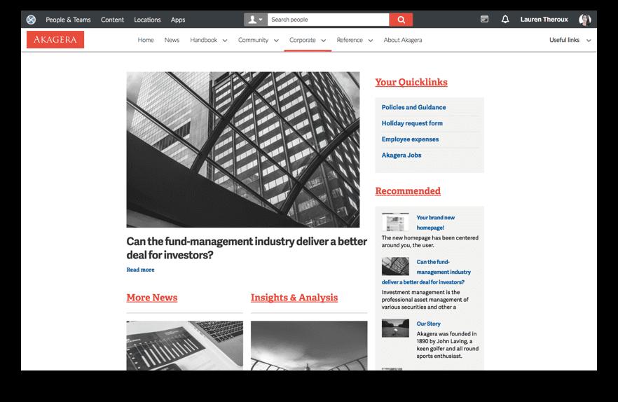 News homepage sample layout