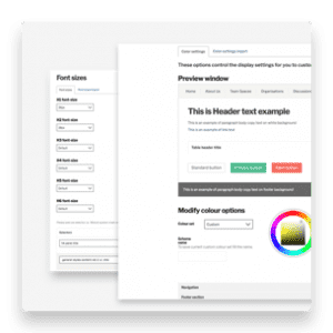 branding settings pages