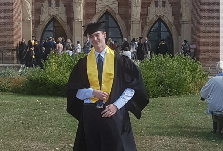 dimitrije at graduation