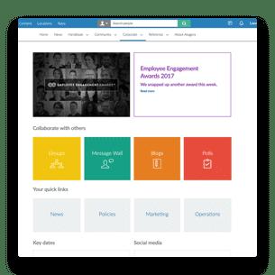 an intranet homepage