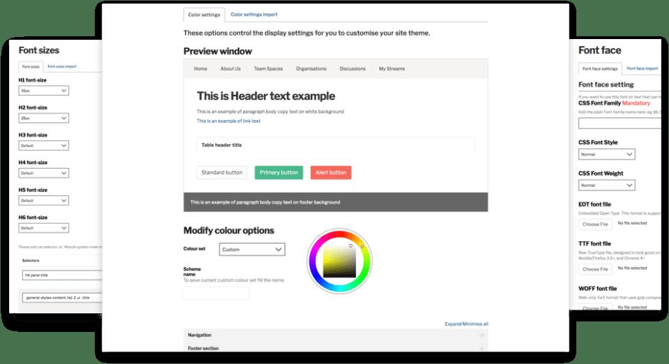 Invotra admin pages screenshots