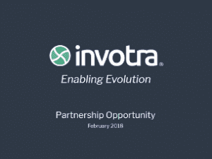 Invotra's Partnership Opportunity slides title page