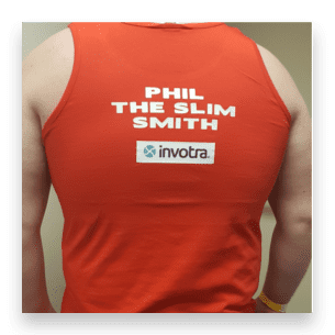 phil smith wearing boxing vest
