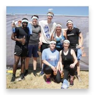 Invotra's tough mudder team