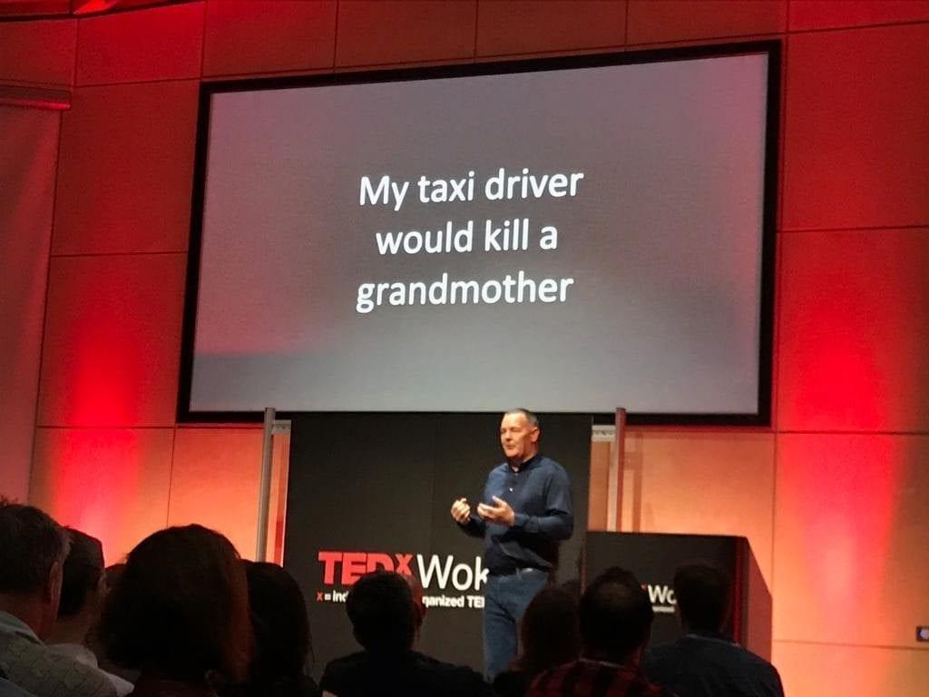 Fintan Galvin delivering his TedX talk