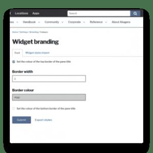 Widget branding options