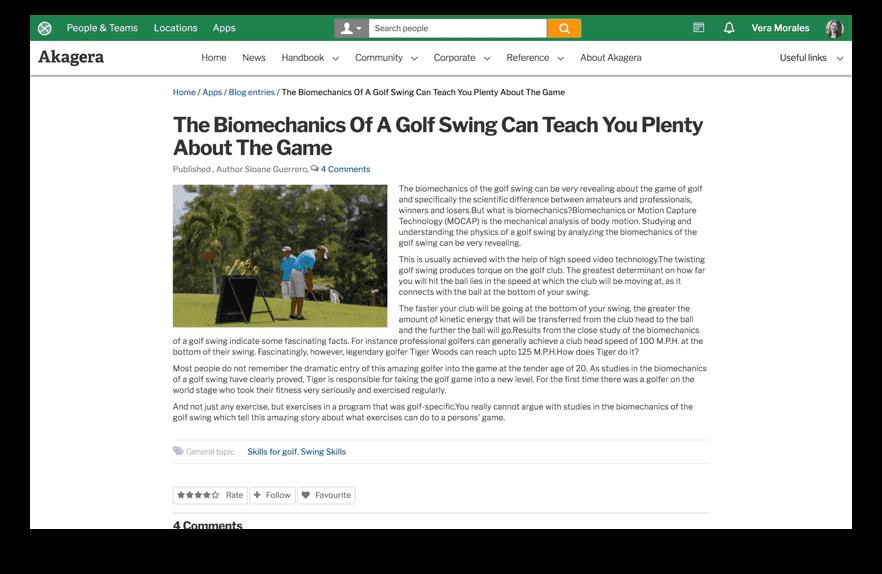 Blogs screenshot