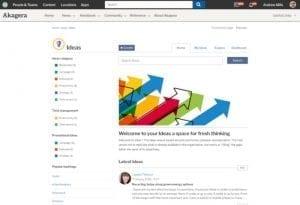 Ideas application homepage