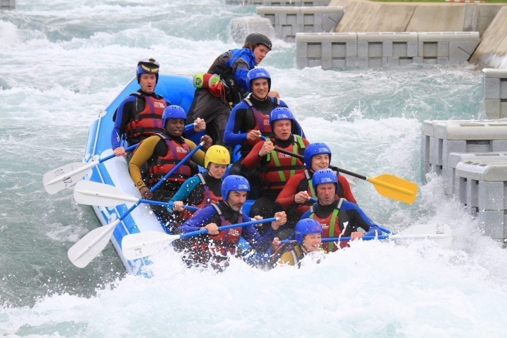 invotra team water rafting