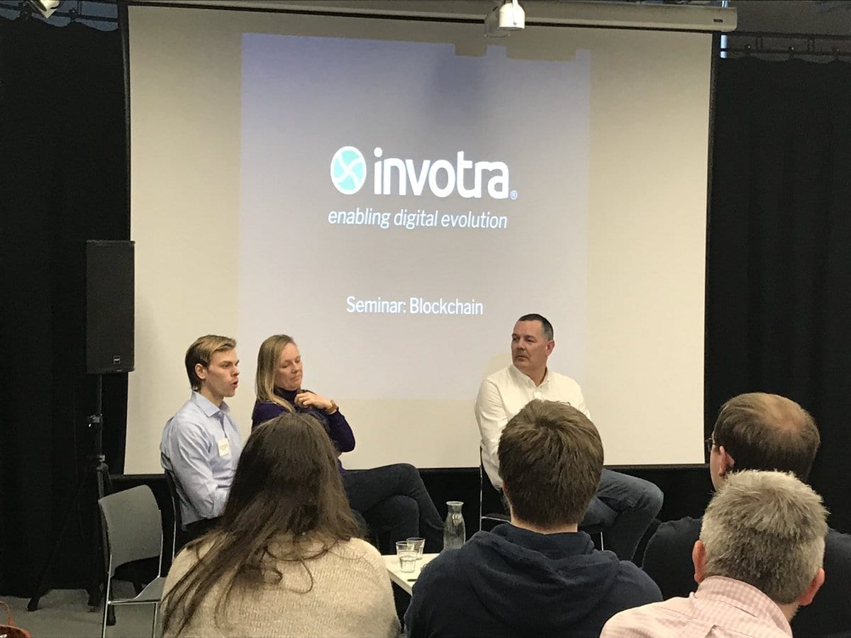 Invotra's blockchain event held at The Core, Newcastle
