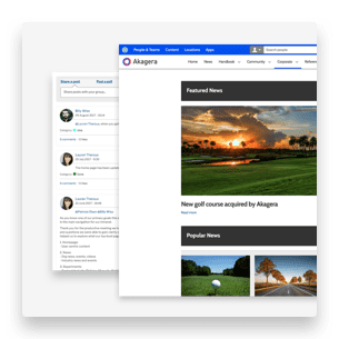 Homepage gallery features and group collaboration for media intranets