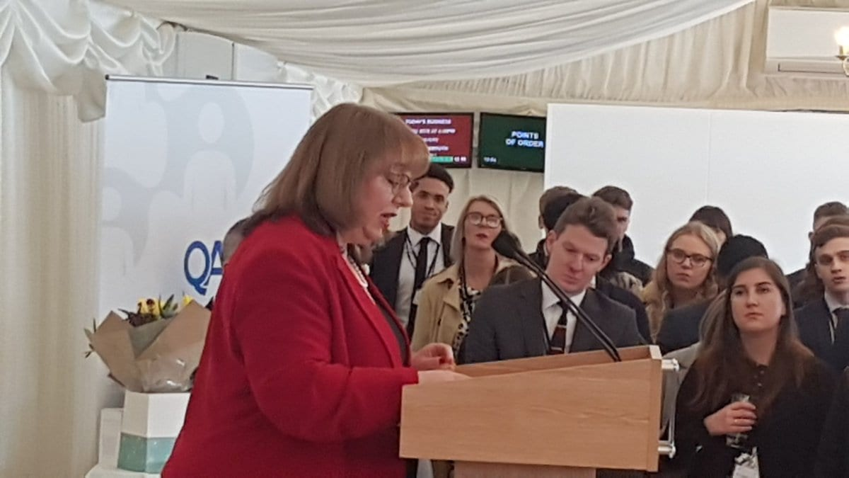 Sharon Hodgson MP at the NAW event in the House of Commons