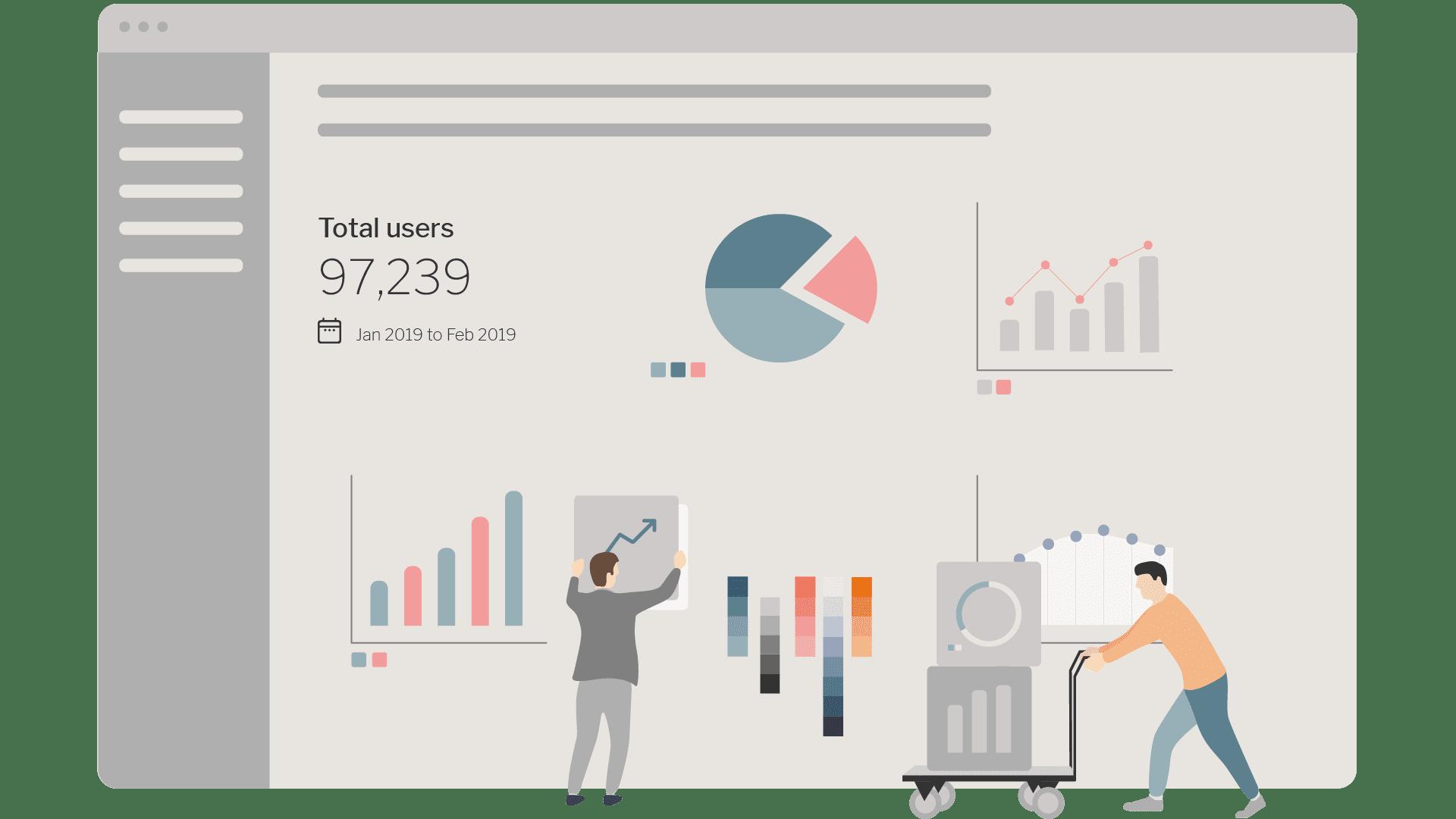 Data visualisation illustration