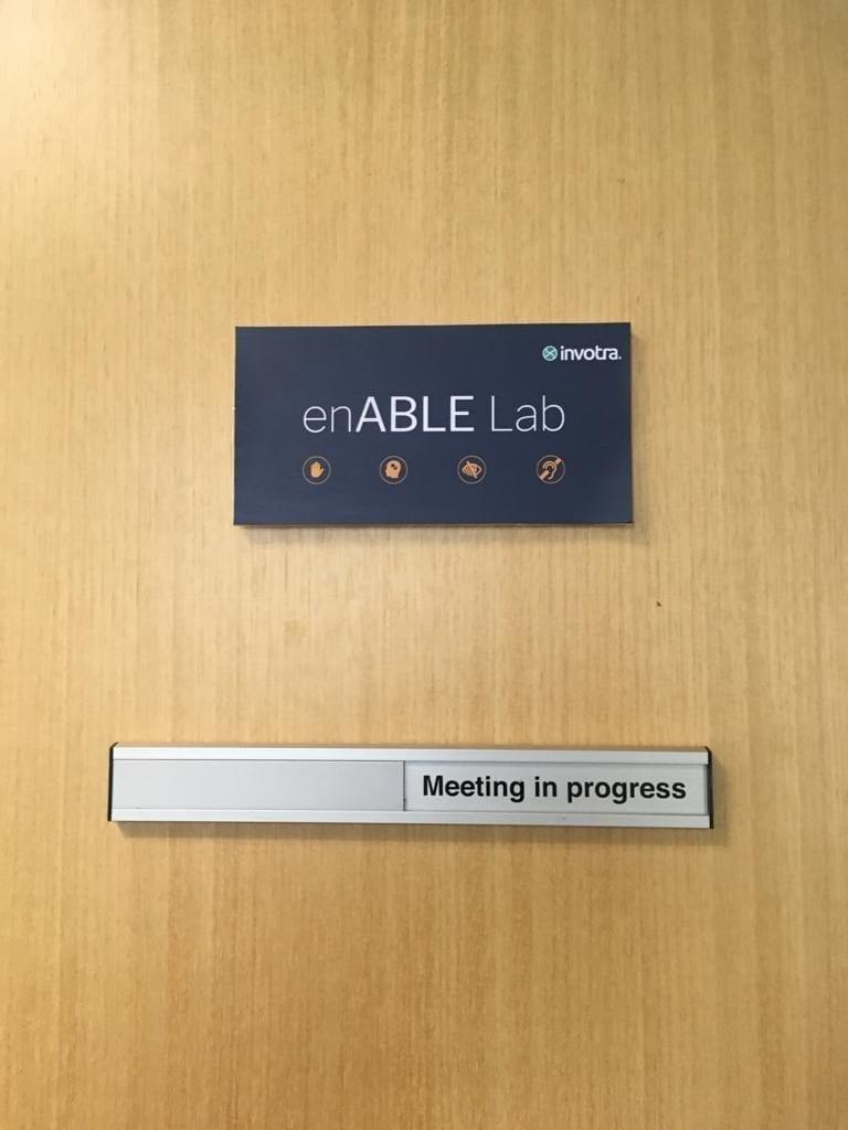 enABLE Lab door sign