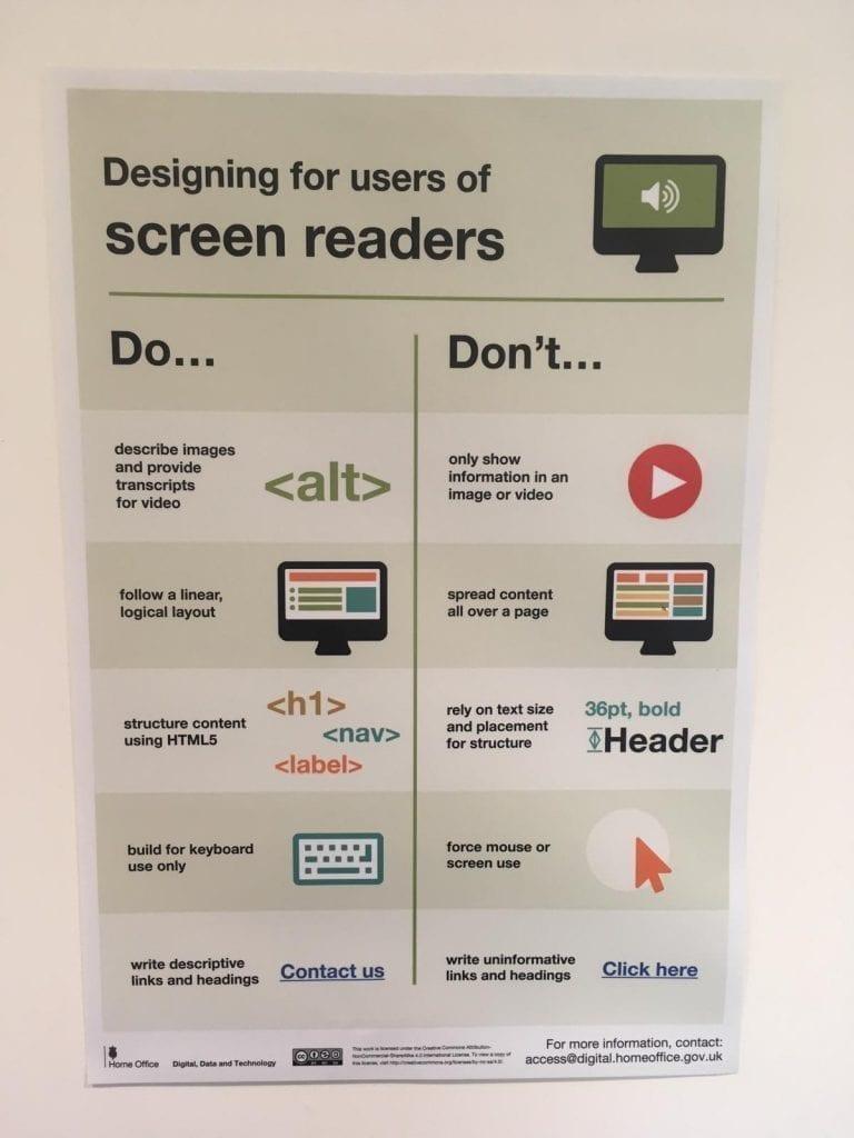 screen readers poster