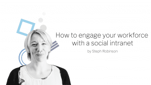 Engage your workforce with a social intranet banner