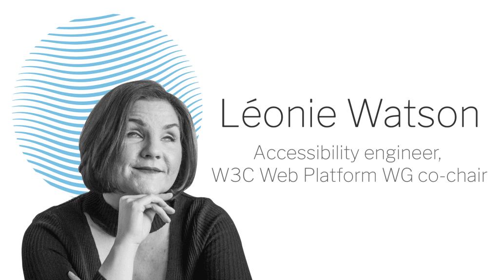 A banner for Léonie Watson's blogs