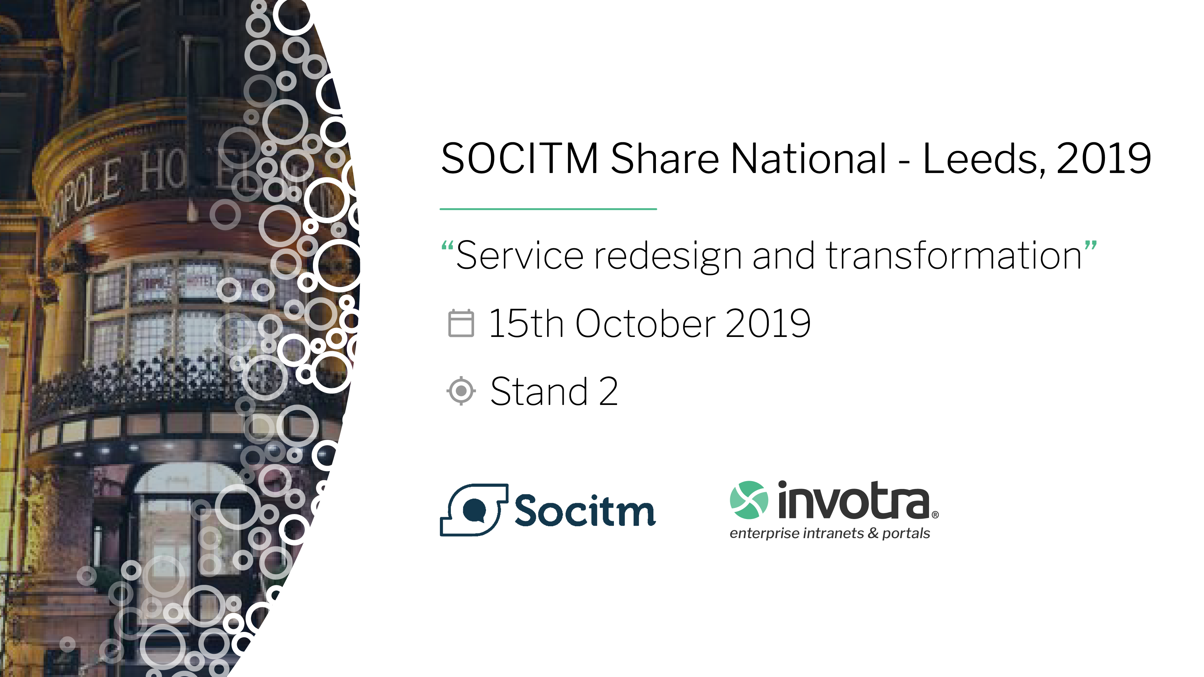 SOCITM Share National - Leeds, 2019 banner